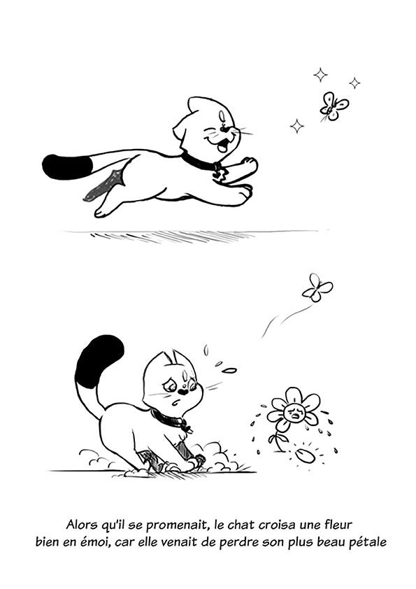 Le chat et la fleur - image 01